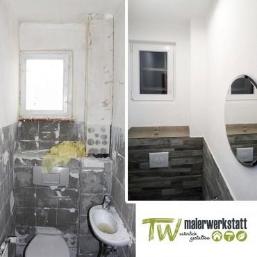 Toilette vorher – nachher