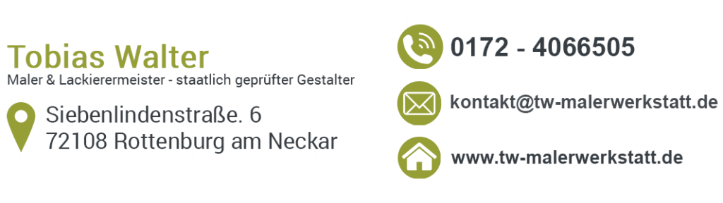 Malerbetrieb 72411 Bodelshausen - Kontaktadresse Malermeister Tobias Walter