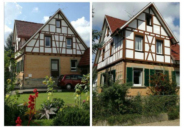 Fachwerkfassade liebevoll saniert in Bodelshausen - Fassadenarbeiten von der TW-Malerwerkstatt in Grosselfingen und Rottenburg