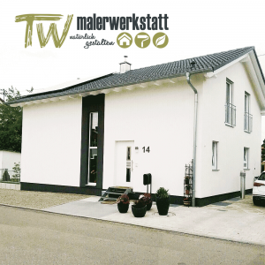Fassadenputz für neues Einfamilienhaus in Tübingen