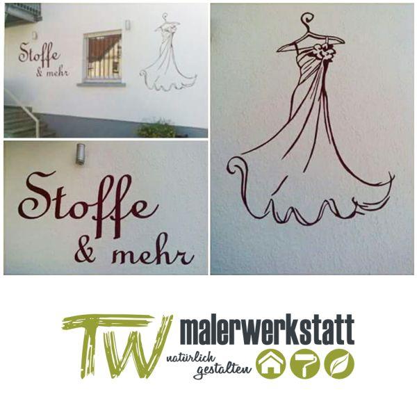 Fassadenbeschriftung durch die tw-malerwerkstatt in Rottenburg