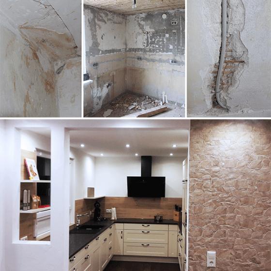 Küche vorher, nachher