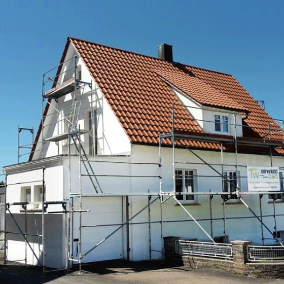 Gerüstbau / Fassade vorher