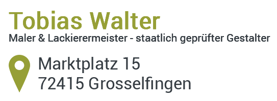 Maler und Lackierer in Grosselfingen - TW Malerwerkstatt Tobias Walter. Ihr Maler in Bisingen, Hechingen, Balingen, Albstatdt, Rottenburg, Horb, Mössingen, Rangendingen