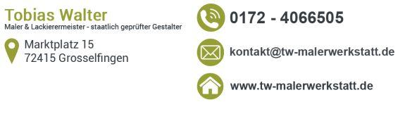 Tapezierarbeiten preiswert und gut: Malermeister Tobias Walter, Grosselfingen - Bisingen - Rottenburg