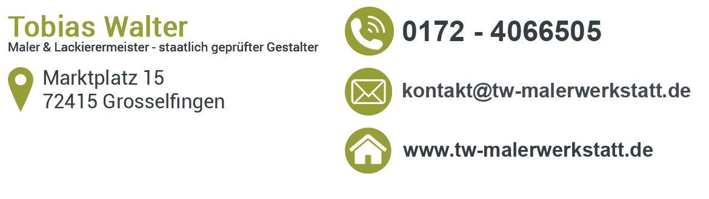 Malerbetrieb Tobias Walter - Maler in der Region 72336 Balingen