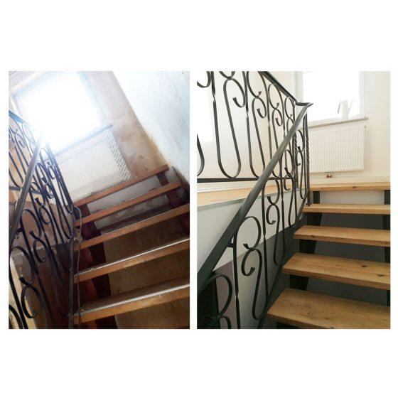 08 Referenzen Renovierung Haus Treppe 01 2020 TW Malerwerkstatt Grosselfingen