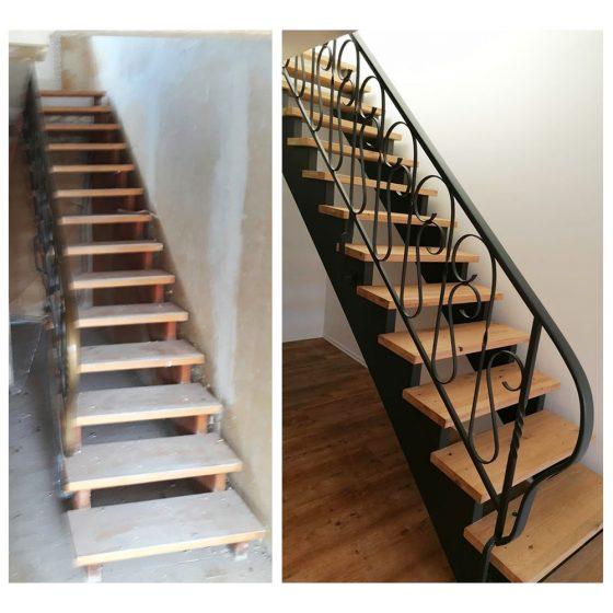 09 Referenzen Renovierung Haus Treppe 02 2020 TW Malerwerkstatt Grosselfingen